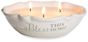 Bless This Home by Love Lives Here - Triple Wick  9 oz Soy Wax Candle Scent: Tranquility