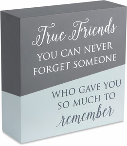 "True Friends by Love Lives Here - 6"" x 6"" Plaque"
