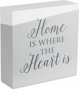 "Home by Love Lives Here - 6"" x 6"" Plaque"