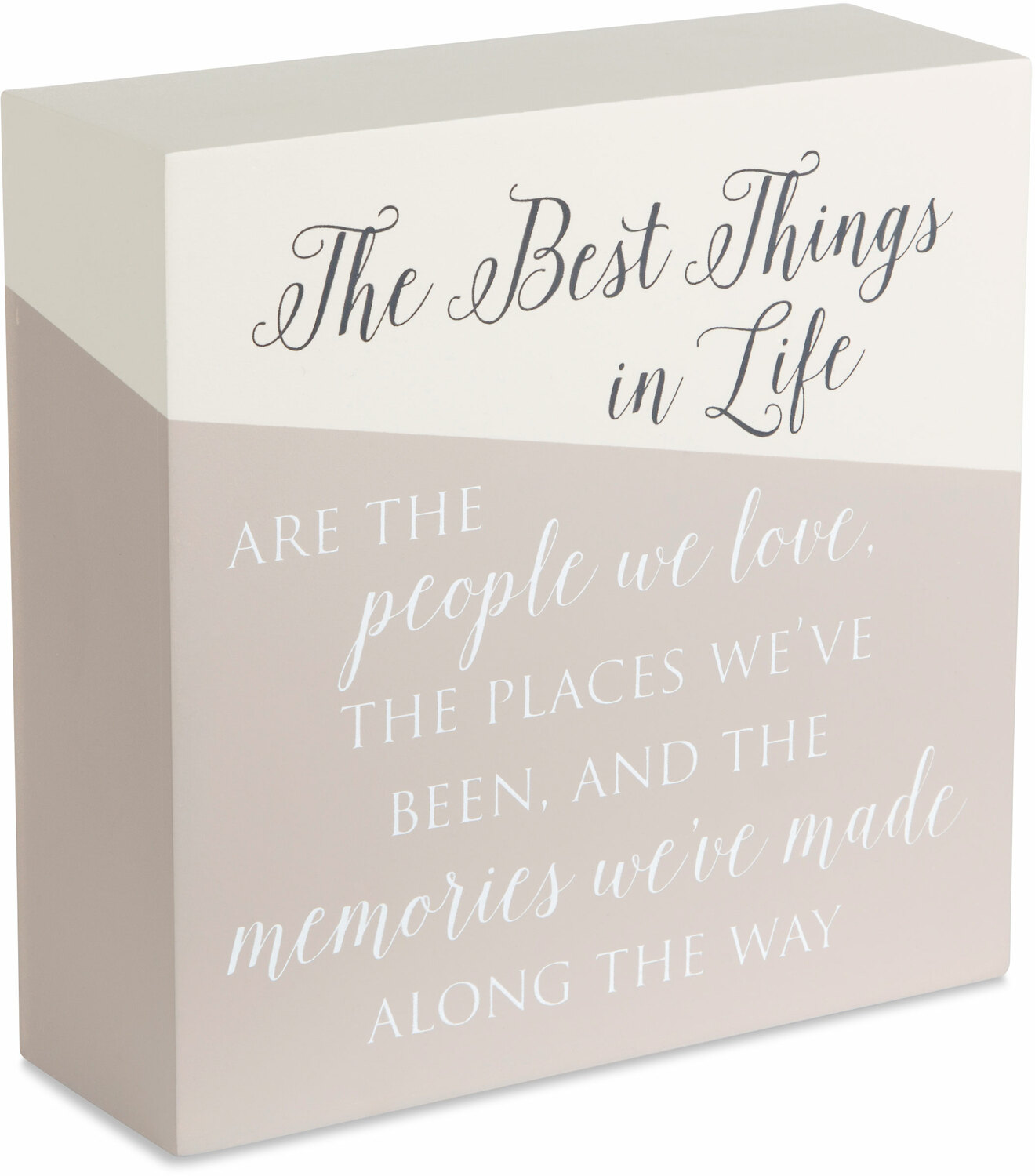 "The Best Things by Love Lives Here - The Best Things - 6"" x 6"" Plaque"