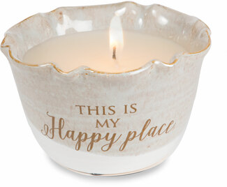 Happy Place by Love Lives Here - Single Wick 9 oz Soy Wax Candle Scent: Tranquility