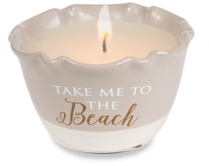 Beach by Love Lives Here - Single Wick 9 oz Soy Wax Candle Scent: Tranquility