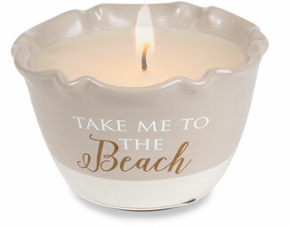 Beach by Love Lives Here - Single Wick 9 oz Soy Candle Scent: Tranquility
