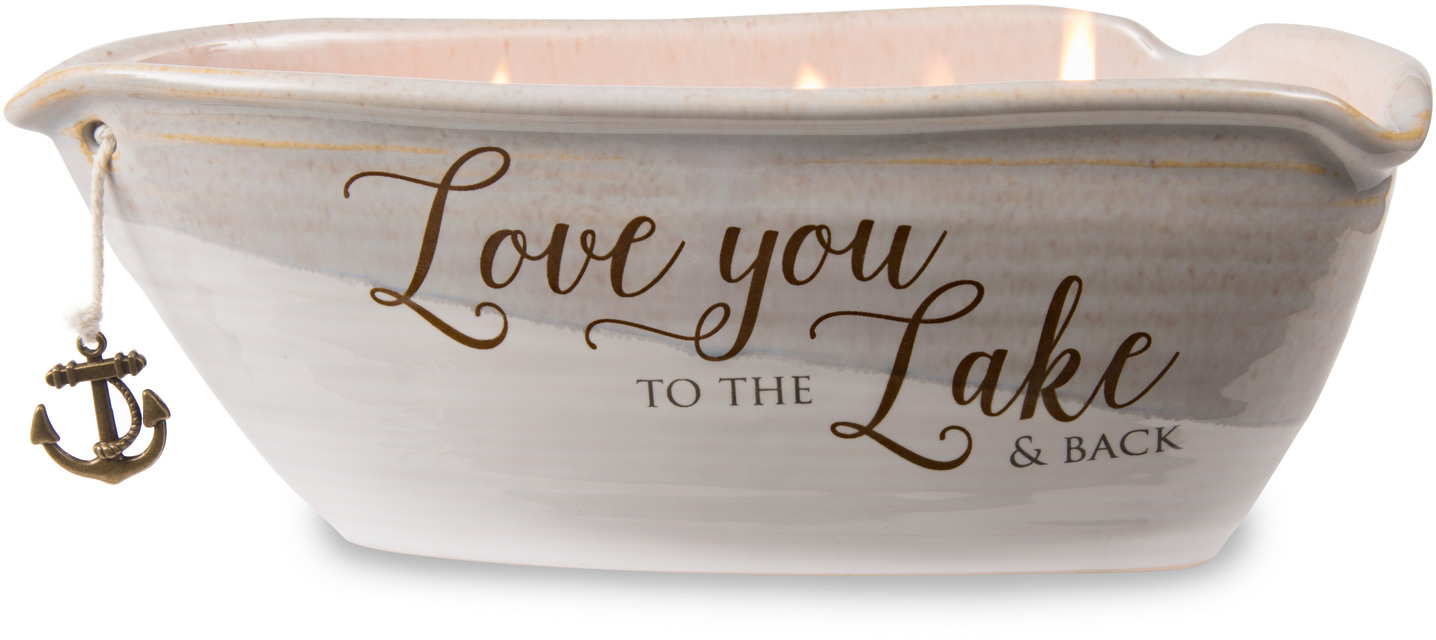 Love You by Love Lives Here - Love You - Triple Wick 10 oz Soy Wax Candle Scent: Tranquility