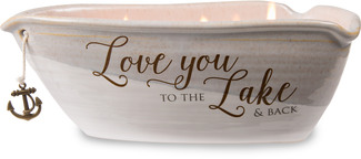 Love You by Love Lives Here - Triple Wick 10 oz Soy Wax Candle Scent: Tranquility