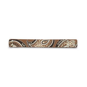 "Brown & Silver Paisley by LAYLA - 8.75"" Leather Bracelet"