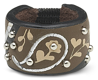 Brown & Silver Paisley by LAYLA - Leather Ring