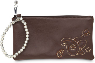 "Brown Paisley by LAYLA - 7"" x 4"" Wristlet"