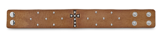 "Faith Bracelet by LAYLA - 8.5"" Camel Leather & Stud"