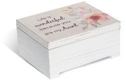 "Aunt by Flora by Stephanie Ryan - 3.75"" x 3"" Keepsake Box"