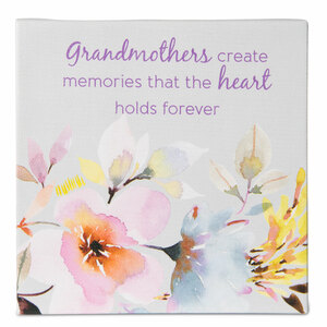 Grandmother by Flora by Stephanie Ryan - Canvas Plaque with Easel Back