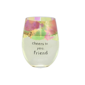 Friend by Celebrating You - 18 oz Stemless Wine Glass