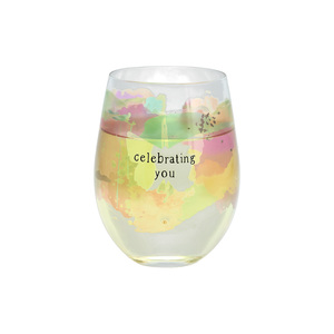 Celebrating You by Celebrating You - 18 oz Stemless Wine Glass