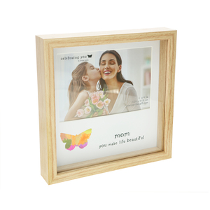 "Mom by Celebrating You - 7.5"" x 7.5"" Shadow Box Frame (Holds 6"" x 4"" Photo)"