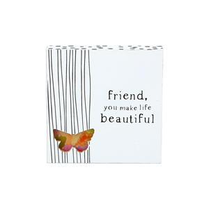 "Friend by Celebrating You - 4.5"" Plaque"