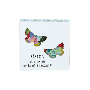 "Sister by Celebrating You - 4.5"" Plaque"