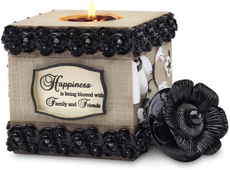 "Happiness by Modeles - 4.5"" Square Tea Light Holder"