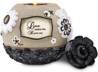 "Love by Modeles - 5"" Round Tea Light Holder"