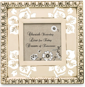 "Cherish, Dream, Live by Modeles - 6.5"" x 6.5"" Plaque/Frame"