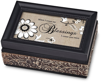 "Blessings by Modeles - 4"" x 6"" Music Box"