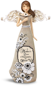 "Mother by Modeles - 9"" Angel Holding Flower"