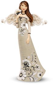 "Happiness by Modeles - 7.5"" Angel Holding Flower"