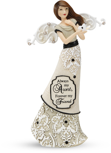"Aunt by Modeles - 6"" Angel Holding Butterfly"
