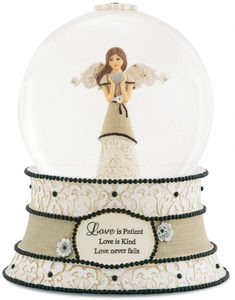 Love by Modeles - 100mm Musical Water Globe
