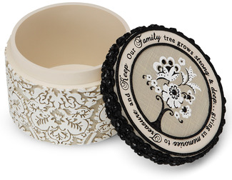 "Family by Modeles - 3.5"" x 2.5"" Trinket Box"