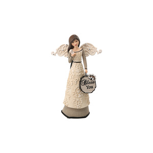 "Bless You by Modeles - 4.5"" Angel Holding Butterfly Ornament"