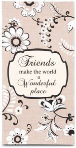 "Friend by Modeles - 7"" x 3.5""  Canvas Plaque"