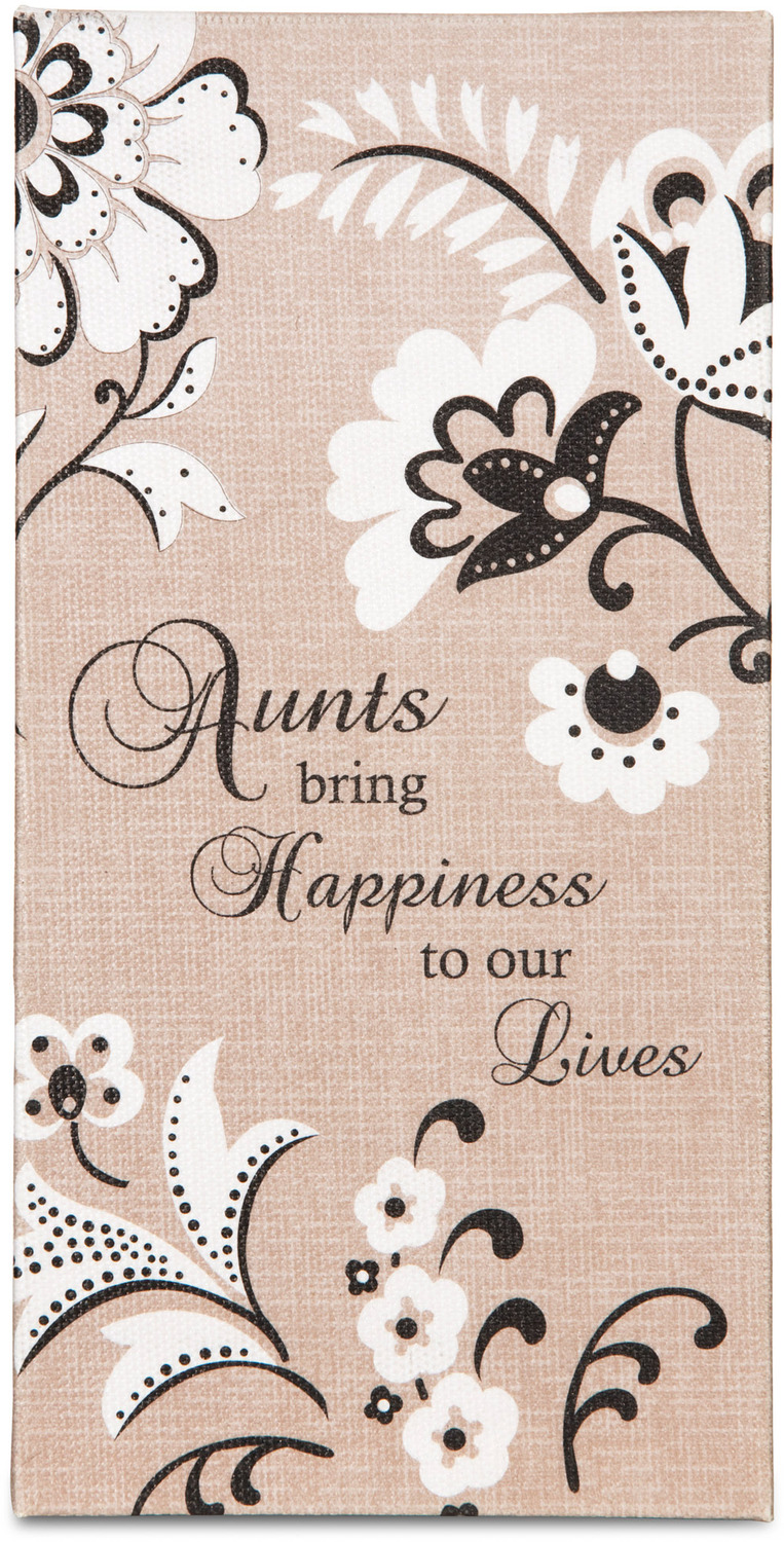 "Aunt by Modeles - Aunt - 7"" x 3.5"" Canvas Plaque"