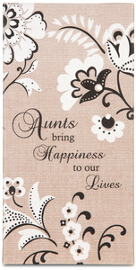 "Aunt by Modeles - 7"" x 3.5"" Canvas Plaque"