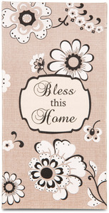 "Bless this Home by Modeles - 7"" x 3.5"" Canvas Plaque"