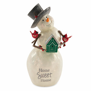 Home by Berry and Bright - 9'' Snowman with Birdhouse