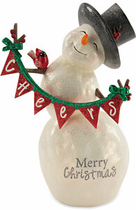 Merry Christmas by Berry and Bright - 9'' Snowman with Banner