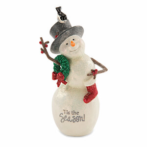 "Tis the Season by Berry and Bright - 6"" Snowman with Wreath"