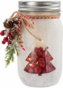 Christmas Tree by Berry and Bright - LED Lit Jar