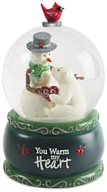 Warm my Heart by Berry and Bright - 100mm Musical Water Globe