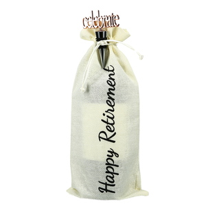 "Retirement by Hostess with the Mostess - 13.5"" Wine Gift Bag Set"