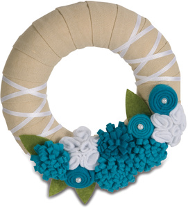 "Aqua by Signs of Happiness - 6"" Wreath"