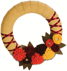 "Fall Harvest by Signs of Happiness - 11"" Wreath"