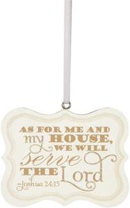 "Serve the Lord by Signs of Happiness - 2.75""x2.25"" Hanging Plaque"