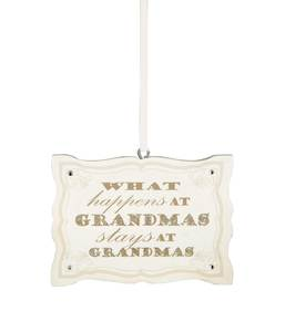 "Grandma by Signs of Happiness - 3""x2"" Hanging Plaque"