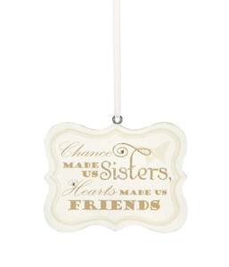 "Sister by Signs of Happiness - 2.75""x2.25"" Hanging Plaque"