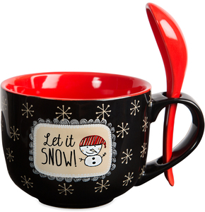 Let it Snow! by Snow Pals - 16 oz Mug with Spoon