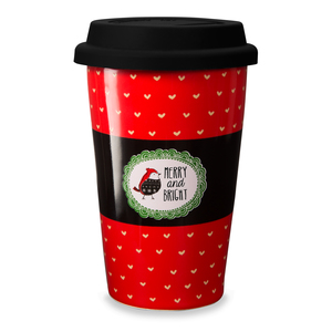 Merry and Bright by Snow Pals - 11 oz Travel Mug