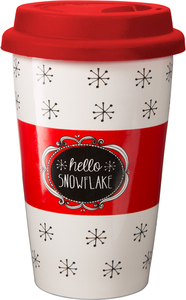Snowflake by Snow Pals - 11 oz Travel Mug