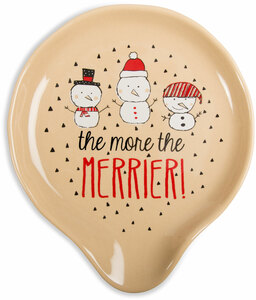 "Merrier by Snow Pals - 5"" Spoon Rest"