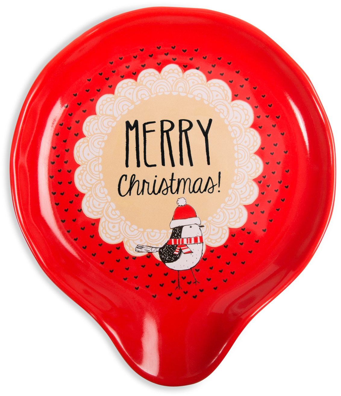 "Merry Christmas! by Snow Pals - Merry Christmas! - 5"" Spoon Rest"